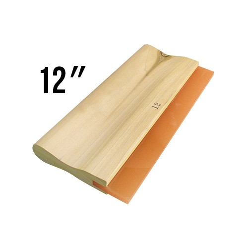 Wooden Handled 60D Squeegee - 12""