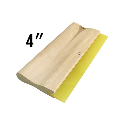 Wooden Handled 70D Squeegee - 4""